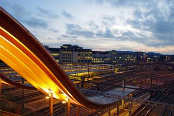 Aluminium Prints Train Station Bahnhof Bern