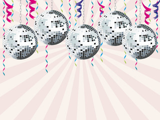 Boules disco rubans
