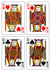 set of kings playing cards 62x90 mm