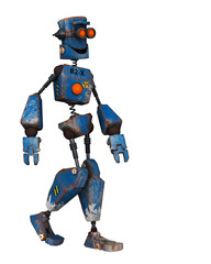 Photo sur Aluminium Robots old robot just walking