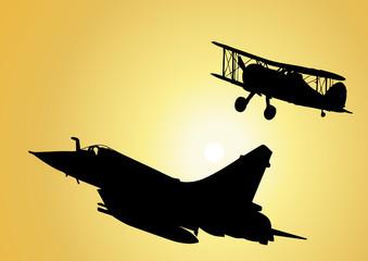 Silhouette_Avions de chasse