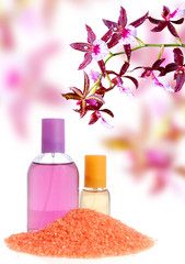 Wall Mural - Perfume, salt and orchid