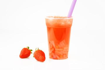 Erdbeer Bubble Boba Tea