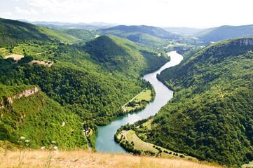 Foto auf Leinwand Fluss Les Gorges de l'AIn