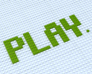Fototapete - Lego Play word