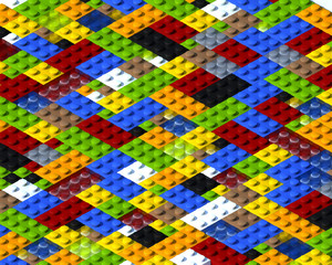 Wall Mural - Lego background isometric