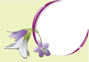 frame with flower and light reflections