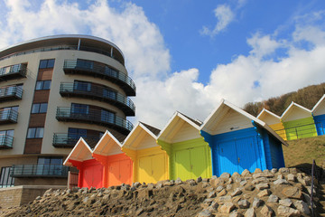 Beach chalets and tourst hotel