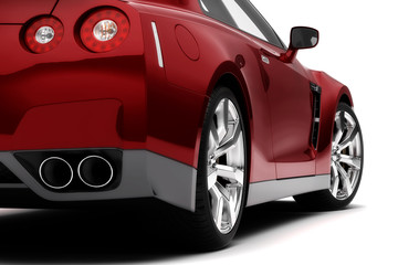 Rear of a red car