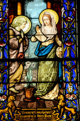 stained glass window of Vigny church