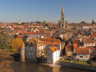 Ville de Montmorillon ; Vienne ; Poitou-Charente