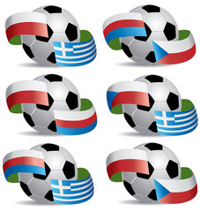 Vector Soccer ball with flags