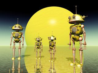 Gelber Roboter Planet