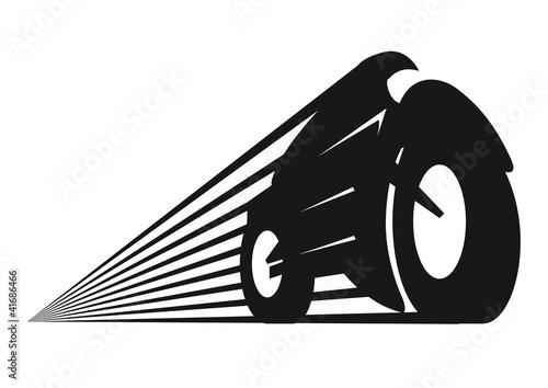 Fototapete Motorrad Logo