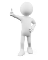 3D Man - Thumb up