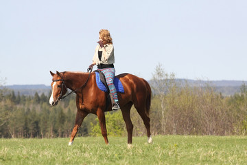 Girl on horseback