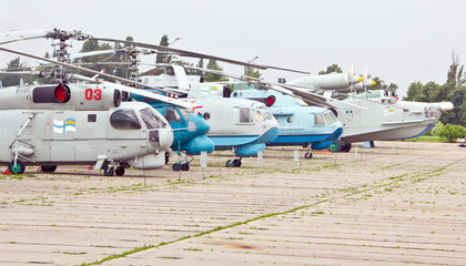 KIEV, UKRAINE- MAY 16: Helicopters at State Aviation Museum