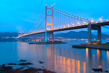 Tsing ma bridge sunset
