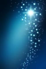 star on a darkblue background