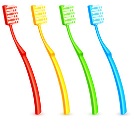 Color toothbrushes.