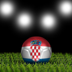 3D soccer balls with national flag. Country Croatia