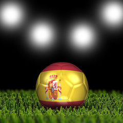 3D soccer balls with national flag. Country Spain
