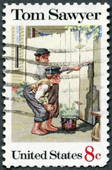 USA - 1972: shows Tom Sawyer by Norman Rockwell (1894-1978)