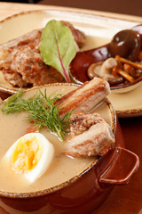 traditional soup with ribs