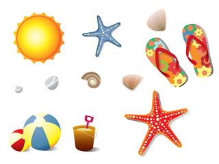 Summer holidays elements