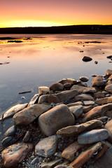 Fototapete - Atlantic ocean scenery at sunset, Ireland