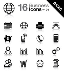 Office, Business and Finance basic icons (set 1)
