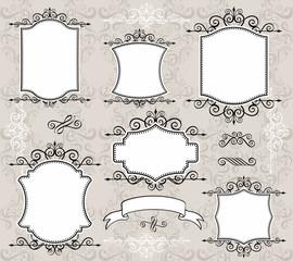 vintage decoration frames