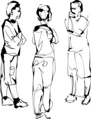 a sketch company from three fellows speak