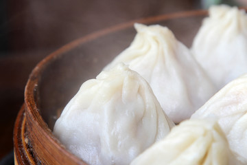 Dampfende Dumplings