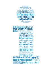 INFORMATION Tag Cloud (find out more about us info button icon)