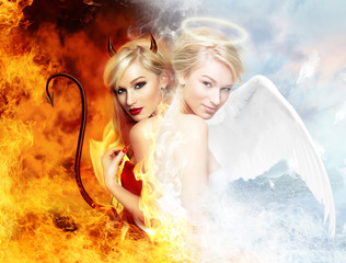 Sexy devil vs gorgeous angel