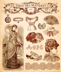 Wall Mural - Fond Mode 1897