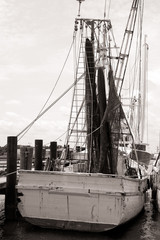 Old Shrimp Boat in Marina