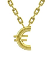 Euro sign with chain