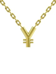 Yen sign with chain