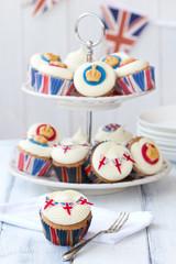Wall Mural - Royal Jubilee cupcakes