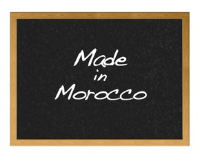 Made in Morocco.