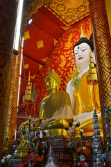 Buddha Image In Temple Of Thailand