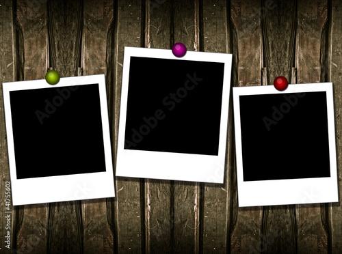 3 polaroid frames\