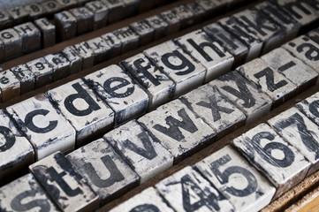 Alter Drucker Setzkasten