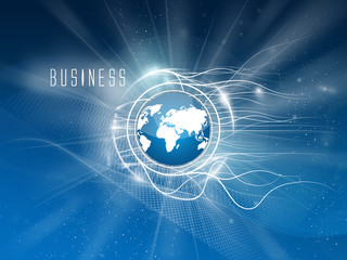 Business services, text left, background