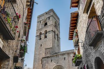 Santa Maria Church at Ainsa at Aragon, Spain