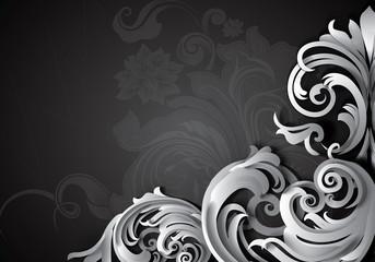 Luxury floral grunge background