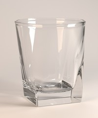 3d render of empty glass
