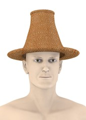 3d render of artificial character with hat